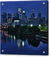 Philly Skyline Acrylic Print by Mark Fuller
