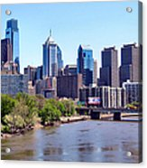 Philly Skyline Acrylic Print