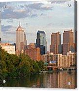 Philly Summer Skyline Acrylic Print