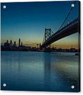 Philly Sunset Acrylic Print