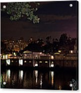 Philly Waterworks At Night Acrylic Print