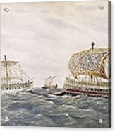 Phoenician And Assyrian Battle Ships Acrylic Print by Everett