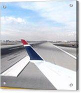 Phoenix Az Airport Wing Tip View Acrylic Print