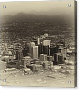 Phoenix Az Downtown 2014 Heirloom Acrylic Print