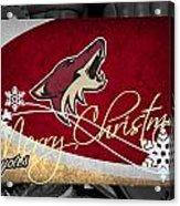Phoenix Coyotes Christmas Acrylic Print