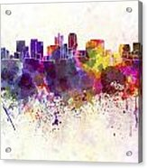 Phoenix Skyline In Watercolor Background Acrylic Print