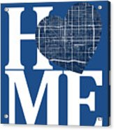 Phoenix Street Map Home Heart - Phoenix Arizona Road Map In A He Acrylic Print
