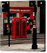 Phone Booths Acrylic Print