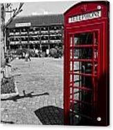 Phone Box London Acrylic Print