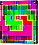 Phone Case Art Intricate Colorful Dynamic Abstract City Geometric Designs By Carole Spandau 131 Cbs  Acrylic Print