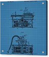 Phonograph Blueprint Patent Drawing Acrylic Print