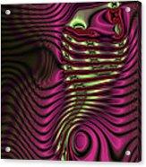 Phosphorescent Fish Fossil Acrylic Print