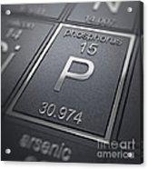 Phosphorus Chemical Element Acrylic Print