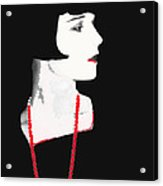 Photo Homage Louise Brooks  Eugene Robert Richee Circa 1927-2012 Acrylic Print