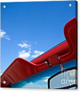 Photo Of Convertible Car And Blue Sky Acrylic Print