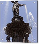 Photo Of Tyler Davidson Fountain In Cincinnati Ohio Acrylic Print