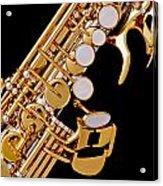Photograph Of A Soprano Saxophone Color 3355.02 Acrylic Print