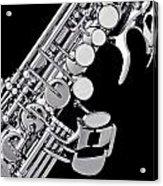 Photograph Of A Soprano Saxophone Sepia 3355.01 Acrylic Print