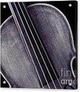 Photograph Of A Upper Body Viola Violin In Sepia 3369.01 Acrylic Print