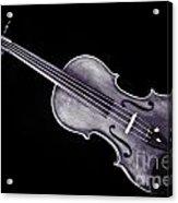 Photograph Of A Viola Violin Antique In Sepia 3376.01 Acrylic Print