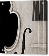 Photograph Of A Viola Violin Side In Sepia 3372.01 Acrylic Print