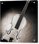 Photograph Of A Viola Violin Spotlight In Sepia 3375.01 Acrylic Print