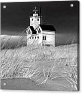 Photograph Of The Lighthouse Big Red In Holland Michigan Acrylic Print