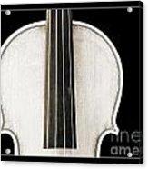 Photograph Or Picture Viola Violin Body In Sepia 3367.03 Acrylic Print
