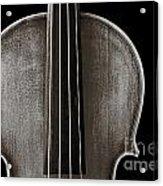 Photograph Or Picture Violin Viola Body In Sepia 3367.01 Acrylic Print