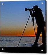 Photographer At Sunset Acrylic Print