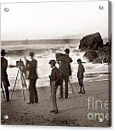 Photographer On The Beach California  Circa 1887 Acrylic Print