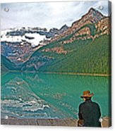 Photographers At Lake Louise In Banff National Park-ab Acrylic Print