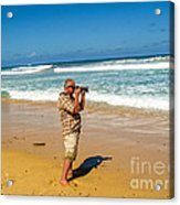 Photorgapher Near The Ocean Acrylic Print
