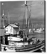 Phyllis Purse-seiner Monterey Wharf California  Circa 1940 Acrylic Print