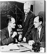 Physicists Brattain, Bardeen And Acrylic Print by Science Photo Library