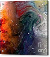 Pi Galaxy Acrylic Print by Petros Yiannakas
