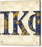Pi Kappa Phi - Parchment Acrylic Print