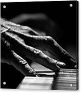 Piano Hands Acrylic Print