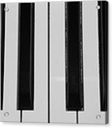 Piano Keys In Black And White Acrylic Print