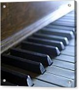 Piano Keys Acrylic Print by Jon Neidert