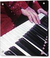 Piano Man At Work Acrylic Print