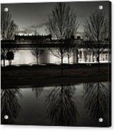 Piano Pavilion Bw Reflections Acrylic Print