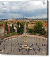 Piazza Del Popolo - Impressions Of Rome Acrylic Print