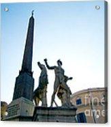 Piazza Del Quirinale Acrylic Print