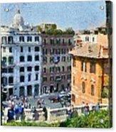 Piazza Di Spagna In Rome Acrylic Print