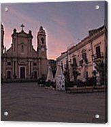 Piazza Duomo Terrasini Acrylic Print