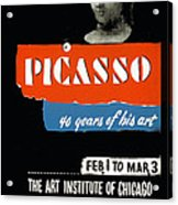 Picasso 40 Years Of His Art  Acrylic Print