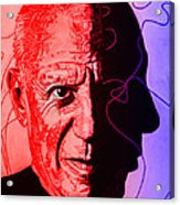 Picasso In Light Sketch 2 Acrylic Print