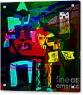 Picasso With A Twist Of Color. Acrylic Print
