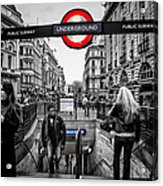 Piccadilly Circus Tube Station Entrance Acrylic Print